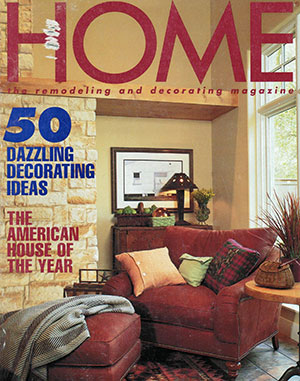 Cover of HOME Magazine featuring a Lepore & Sons custom built home