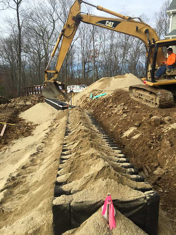 Septic leach field installation