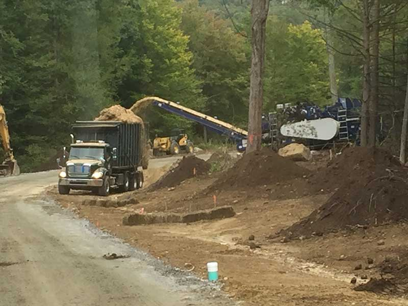 Land clearing for road and homes