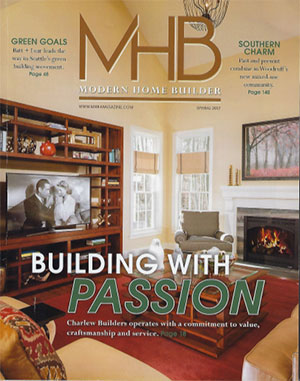 Modern Home Builder magazine featuring a Lepore & Sons custom home