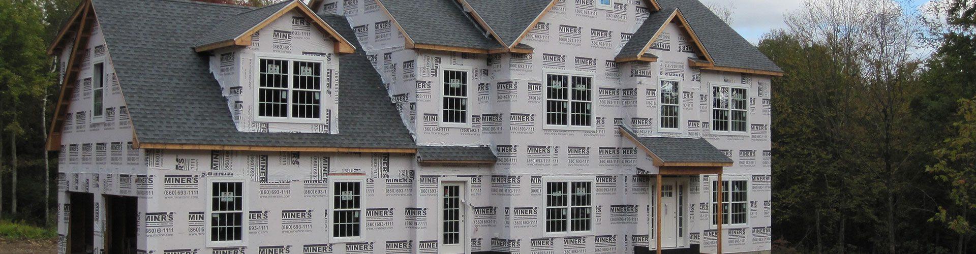 Exterior of home before siding