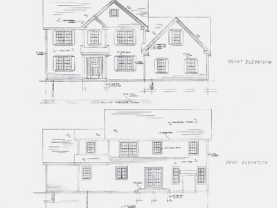 Custom home elevation drawing