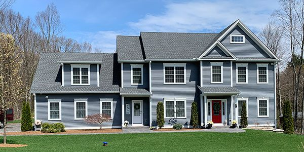 Gray home at Evergreen Crossing in New Hartford, CT